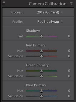 Red/Blue Swap in Lightroom for Infrared Photography