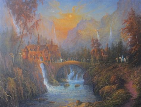 Beautiful, Fantasy Oil Paintings Of Scenes From 'The Lord
