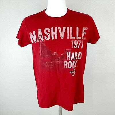 Hard Rock Cafe Nashville Men's T-shirt Size Small Red DQ9