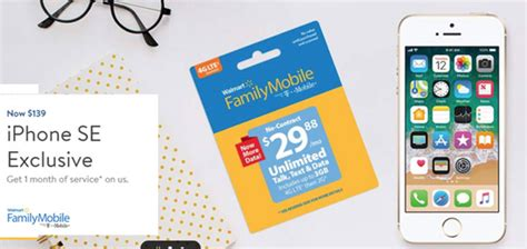 Walmart Family Mobile Promotion Offers iPhone SE 32GB for