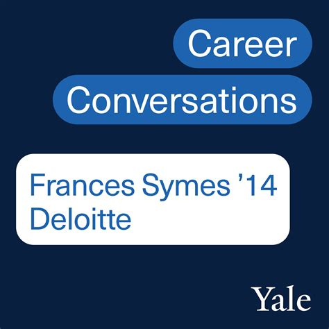 'Career Conversations' Podcast: Frances Symes '14, Manager