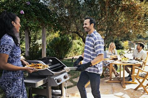 Indirect Grilling on a Two-Burner Gas Grill   Burning