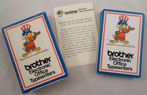 Brother Electronic Office Typewriters Deck Of Cards