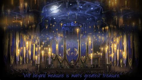 Pottermore Background: Ravenclaw Great Hall by xxtayce on