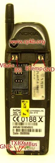 Nokia 5110 pinout - CPKB - Cell Phone Knowledge Base
