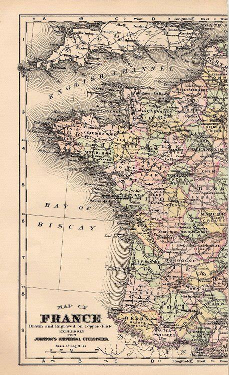 Vintage Map of France - 2 Parts - The Graphics Fairy
