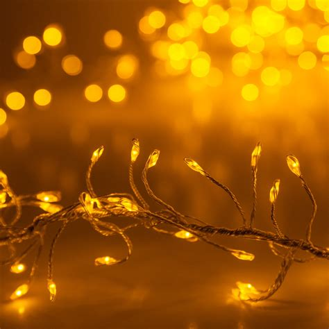 Novelty Lights - Gold LED Fairy Garland Lights, Gold Wire