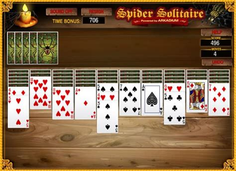 Spider Solitaire Suits game - FunnyGames