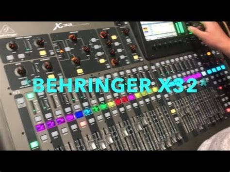 BEHRINGER X32 WITH JBL SUBS AND MAINS - YouTube