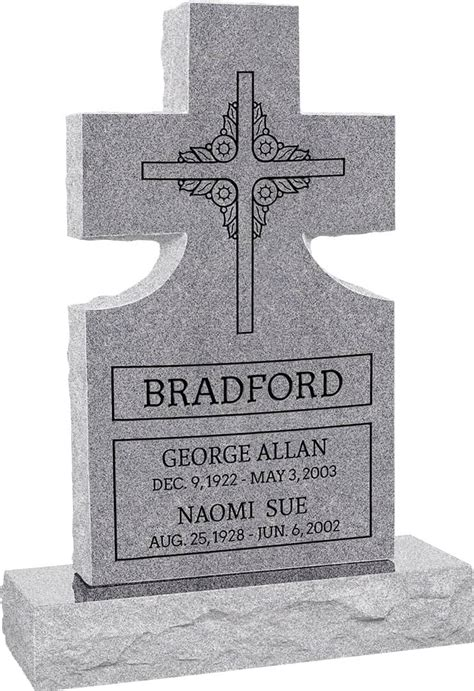 Cross Upright Headstone polished front and back with 34