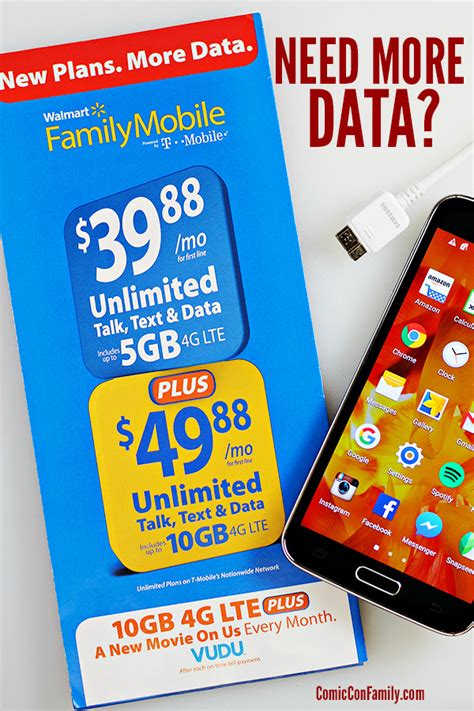 Introducing Walmart Family Mobile PLUS Plan - with 10GB Data