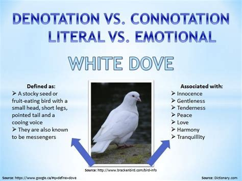 White doves are an exemplary example to show that one word