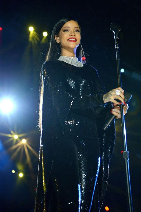 RIHANNA Performs at The Concert For Valor in Washington