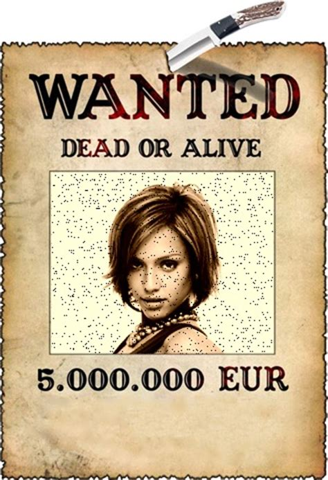 Fotomontage Zeigt Wanted Dead or Alive 5