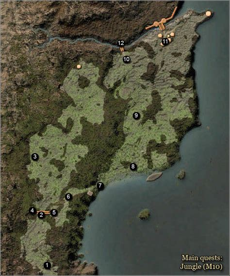 Maps | The Black Gorges and the Jungle Main Quests