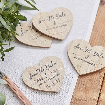 """Save-the-Date Magnete """"Holzherzen"""", 10 St   Save the date"""