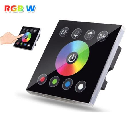 DC12V 4A*4CH Black Tempered Glass Panel Digital Touch