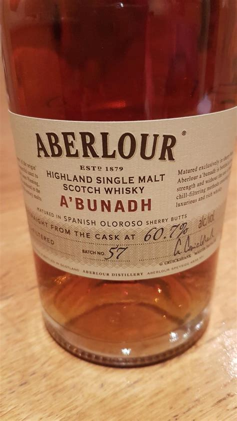 Aberlour A'bunadh batch #57 - Ratings and reviews - Whiskybase