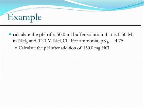 PPT - Chapter 15 Applications of Aqueous Equilibria