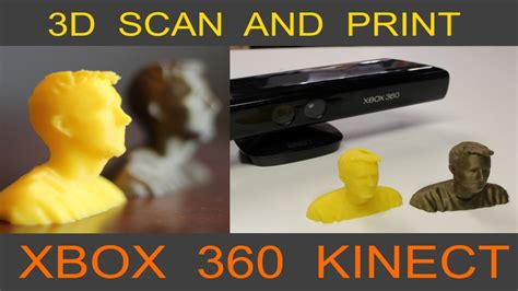 Scan and 3D Print Yourself - XBOX Kinect - YouTube