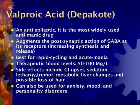 PPT - Drugs Used to Treat Bipolar Disorder PowerPoint