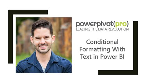 Conditional Formatting With Text in Power BI - YouTube