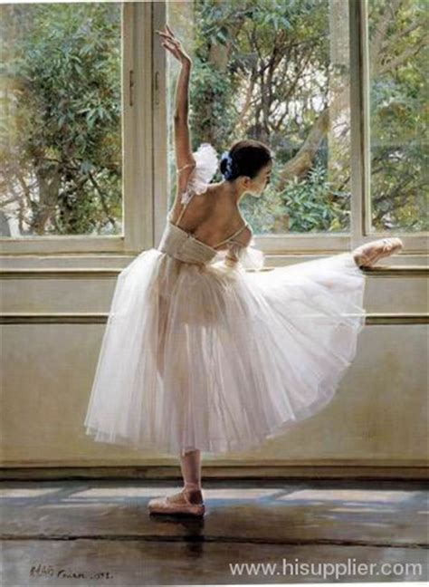 Classical ballet art oil painting manufacturer from China